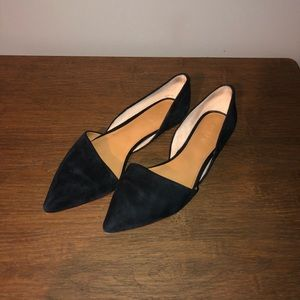 J. Crew Black Flats Pointed Toe Size 9